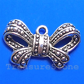 Pendant/charm, silver-finished,16x25mm. Pkg of 8.