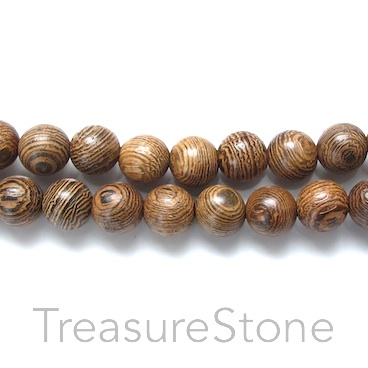 Bead, wood pattern 1, 8mm round. Pkg of 108pcs.