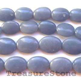 Bead, angelite, 12x16mm puffed oval. 16-inch strand.