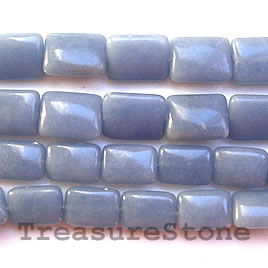 Bead, angelite, 10x14mm puffed rectangle.16-inch strand.