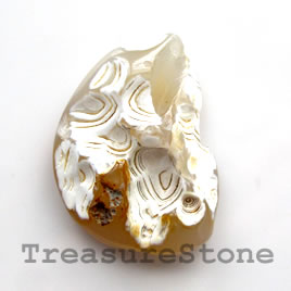 Cabochon, agate, 35x48mm freeform. Sold individually.