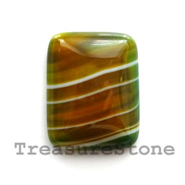 Cabochon, agate (dyed), 17x22mm rectangle. Sold individually.