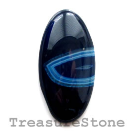 Cabochon, agate (dyed), 18x36mm oval. Sold individually.