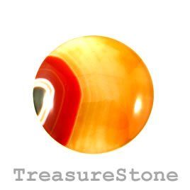 Cabochon, agate (dyed), 47mm round. Sold individually.