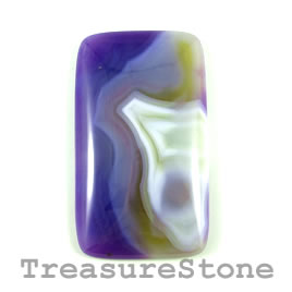 Cabochon, agate (dyed), 34x61mm. Sold individually.