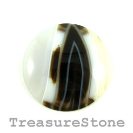 Cabochon, agate, 47mm. Sold individually.
