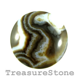 Cabochon, agate (dyed), 48mm. Sold individually.