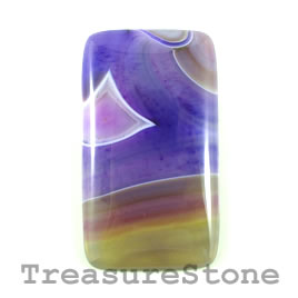 Cabochon, agate (dyed), 33x60mm. Sold individually.