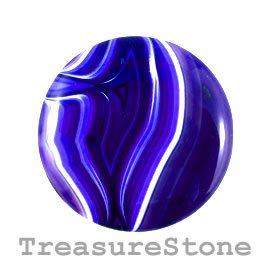 Cabochon, agate (dyed), 46mm. Sold individually.