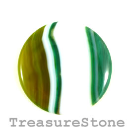 Cabochon, agate (dyed), 43mm. Sold individually.