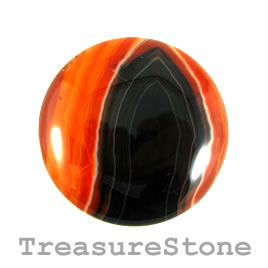 Cabochon, agate (dyed), 40mm. Sold individually.
