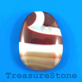 Cabochon, agate (dyed), 31x41mm. Sold individually.