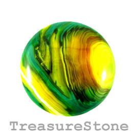 Cabochon, agate (dyed), 42mm. Sold individually.
