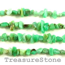 Bead, chrysoprase, 5 to 10mm nuggets. 16 inch strand.
