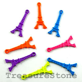 Charm, mixed, metal, 10x20mm eiffel tower. Pkg of 8. - Click Image to Close