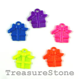 Pendant/charm, mixed color, 16x17mm gift boxes. Pkg of 5.
