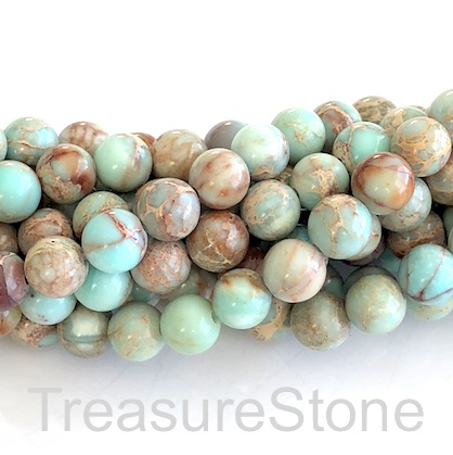 Bead, Imperial Jasper, 8mm round. 15.5-inch, 48pcs