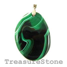 Pendant, dyed agate, 40x55mm. Sold individually.
