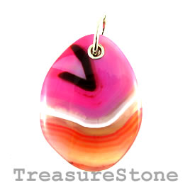 Pendant, dyed agate, 45x60mm. Sold individually.
