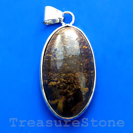 Pendant, bronzite. 21x36mm. Sold individually.