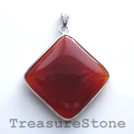 Pendant, carnelian. 40mm. Sold individually.