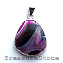 Pendant, dyed agate. 29x33mm. Sold individually.