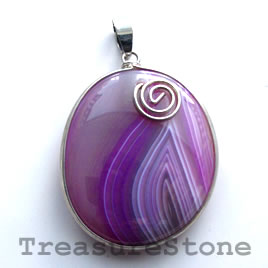 Pendant, dyed agate. 32x38mm. Sold individually.