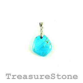 Pendant, natural turquoise, 18x20mm, 2.86gram. Sold individually