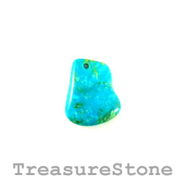 Pendant, natural turquoise, 23x28mm, 5.92gram. Sold individually