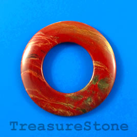 Pendant, Red Jasper, 55mm circle. Sold individually.