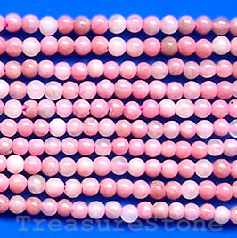 Rhodonite Round, 2mm, 16-inch strand