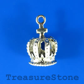 Charm/Pendant, 14x17mm crown. Pack of 2.