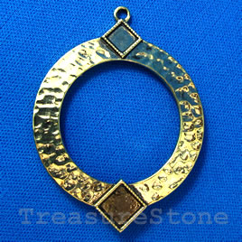 Pendant/charm, gold-finished, 45x55mm. Sold individually.