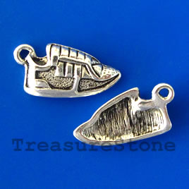Charm/pendant, sneakers, 10x18mm. Pkg of 8.