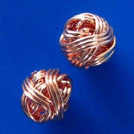 Bead, copper-finished, 8mm round. Pkg of 12.