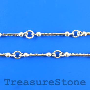 Chain, pewter, antiqued silver-finished, 27mm. Sold by meter.