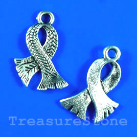 Pendant/charm, silver-finished,18x21mm scarf. Pkg of 6.