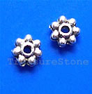 Bead, antiqued silver-finished, 4mm beaded rondelle. Pkg of 40.