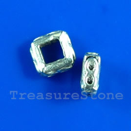 Bead, antiqued silver-finished, 5x2mm. Pkg of 30.