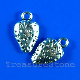 Pendant/charm, 10x14mm strawberry. Pkg of 9.