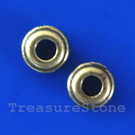 Bead, antiqued bronze finished, 6x2mm. pkg of 25.