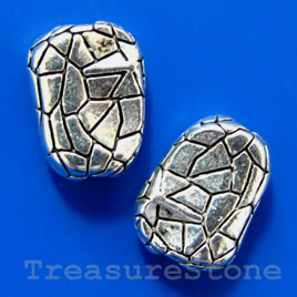 Bead cap, antiqued silver-finished, 12mm. Pkg of 16.