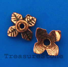 Bead cap, antiqued copper finished, 8x2mm. Pkg of 30.