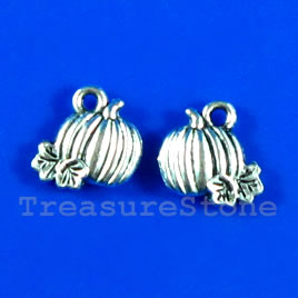 Pendant/charm, 10x11mm pumpkin. Pkg of 15.