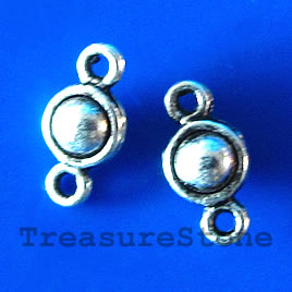 Link, antiqued silver-finished, 5x10mm. Pkg of 25.
