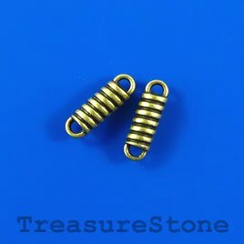 Bead/link, brass-colored, 4x14mm. Pkg of 15.