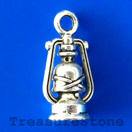 Charm/pendant, 8x12mm oil lantern. Pkg of 10.