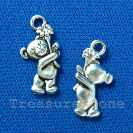 Pendant/charm, 10x17mm teddy bear. Pkg of 15.
