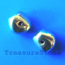Bead, gold-finished, 9mm. Pkg of 12.