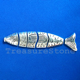 Pendant. 17x72mm fish. Sold individually (6 pieces).